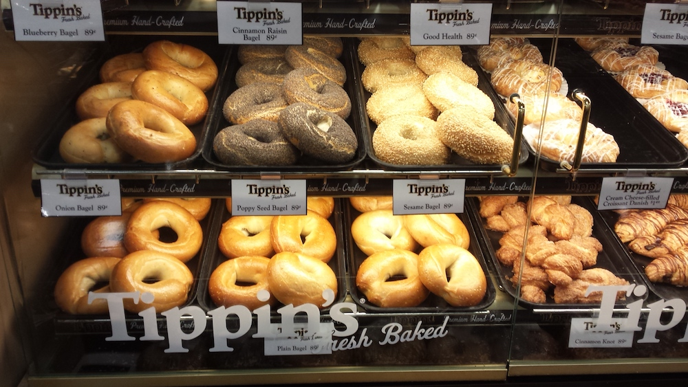 Tippin's fresh baked bagels & croissants