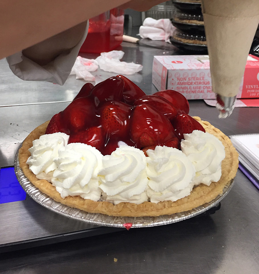 Whipped Cream on Tippins Strawberry Pie