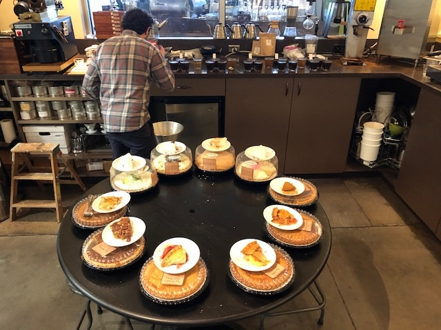 Cupping and pie tasting at The Roasterie