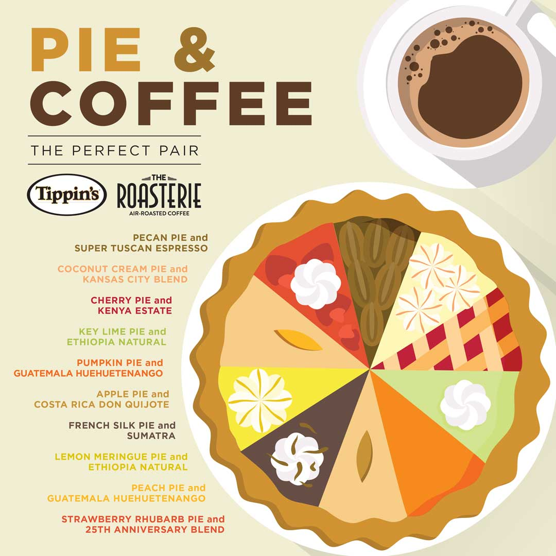Tippins Pie and Roasterie Coffee pairings