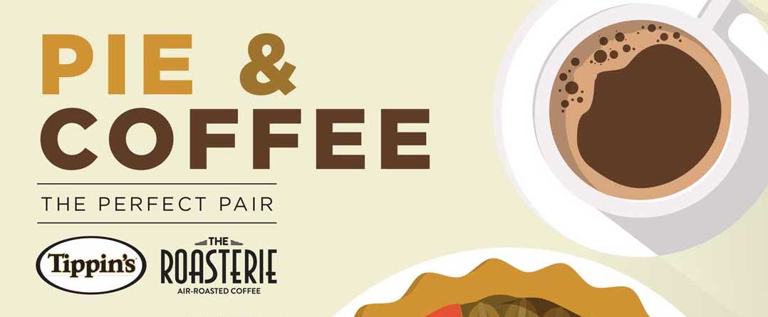 Tippin's pie & Roasterie Coffee banner